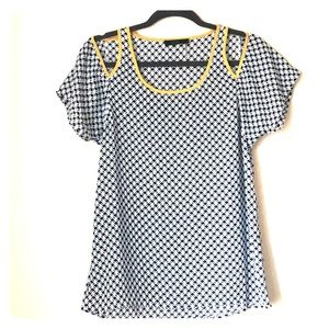 THML summer top with shoulder cut outs